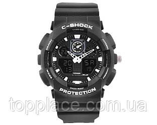 Мужские наручные часы S-SHOCK с подсветкой, Black-White