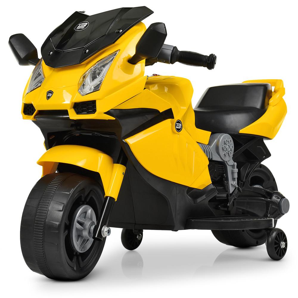 Электромобиль Мотоцикл M 4082-6 желтый BAMBI