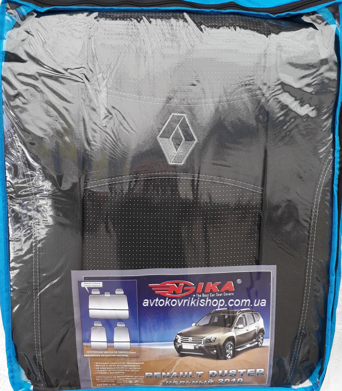Авточехлы Renault Duster 2010- (цельная) Nika