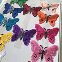 Термоаплікації - кольоровий метелик, висота 5,5 см, фото 1