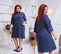Практичное прямое платье ангора р-ры 50-56 арт 0508