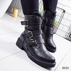 """Ботинки женские зимние, черного цвета из эко кожи """"8939"""". Черевики жіночі. Ботинки теплые, фото 3"""