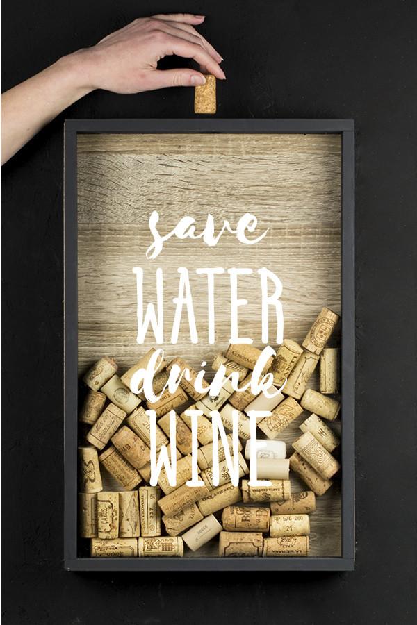 """Рамка для винних пробок """"Save water"""""""