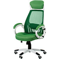 Кресло для руководителя Briz green/white E0871
