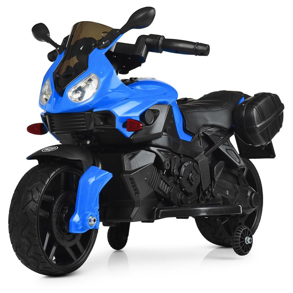 Электромобиль Мотоцикл M 4080EL-4 синий BAMBI