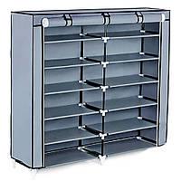 Тканевой шкаф на две секции 2712А  + ПОДАРОК D1001