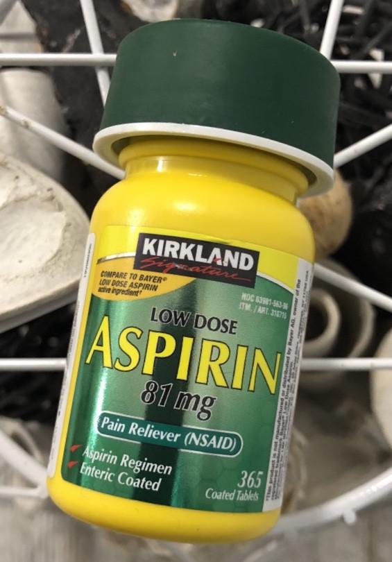 Аспирин Kirkland Aspirin Low dose 81 mg, 365шт