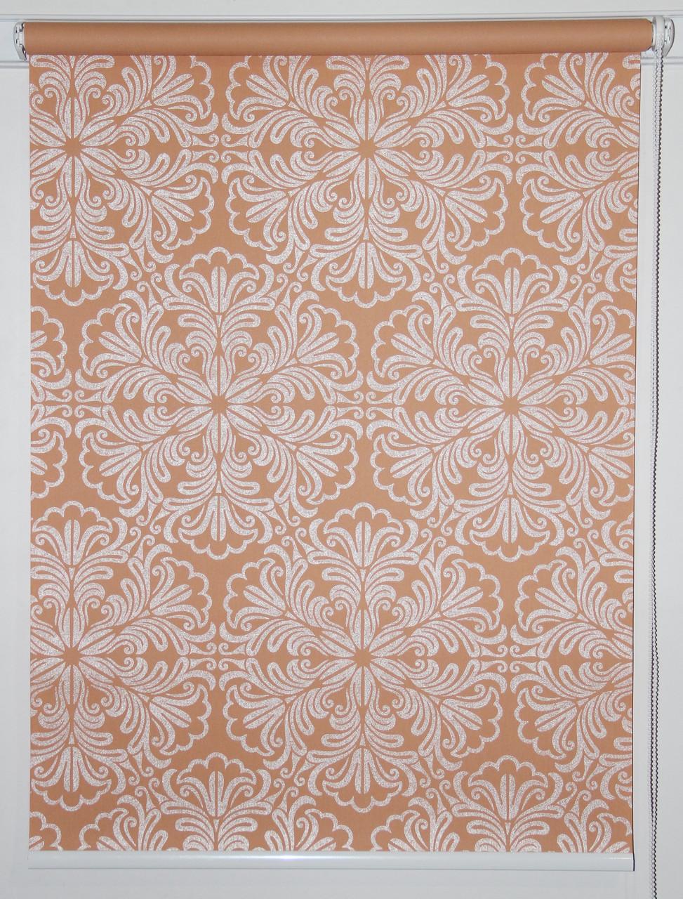 Готовые рулонные шторы 875*1500 Ткань Эмир Коралл