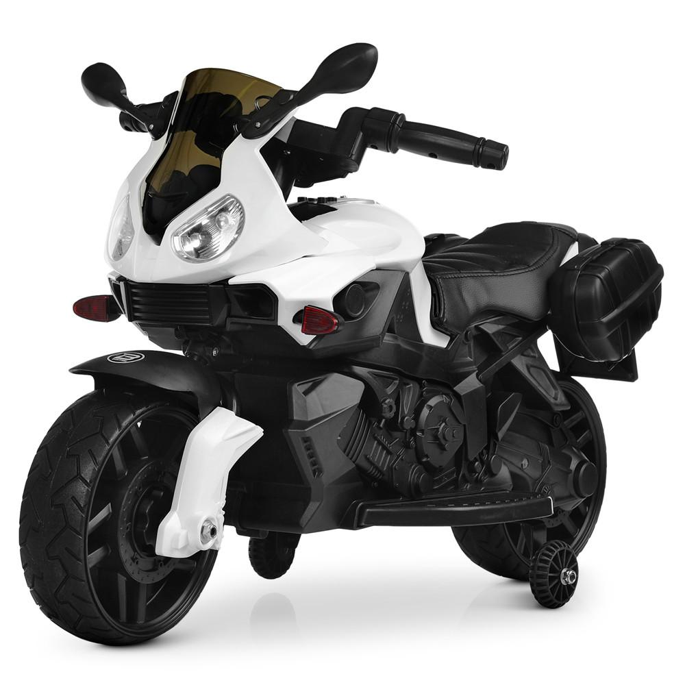 Электромобиль Мотоцикл M 4080EL-1 белый BAMBI