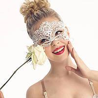 🍓Сексуальная маска для глаз. Белая | для игр, романтический вечер, игривый костюм, маска, аксессуар, украшение
