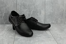 Мокасины мужские Vankristi 210 черные (натуральная кожа, весна/осень)