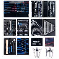 Набор инструментов для тележки, 10 ложементов, 204 предмета KING TONY 946-100MRD-MT