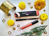 Набор 2 в 1 Huda Beauty Lip Set Жидкая матовая помада + Карандаш. Тон 1