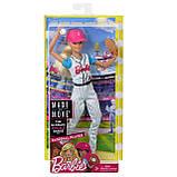 Barbie Made To Move Doll Барбі бейсбол блондинка йога, фото 9