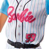 Barbie Made To Move Doll Барбі бейсбол блондинка йога, фото 6