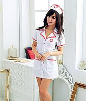 🍓Халатик медсестры | ЭРОТИЧЕСКОЕ БЕЛЬЕ, женское, халат медсестры, эротическая одежда, для секса, интимное белье, игровой костюм, тематическая одежда