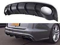 Юбка / диффузор задний Audi A6 C7 Sedan / Avant в стиле RS6
