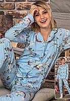 Женские пижамы с длинным рукавом и брюками новая коллекция