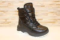 Ботинки женские зимние черные С838