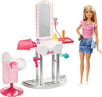 Набір Барбі салон красоти перукарня Barbie Salon & Doll, Blonde, фото 1