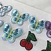 Термоаппликация - маленькие бабочки и вишенки, высота 3,5 см