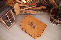 Деревянная подарочная коробка На Новый Год 2020 CraftBoxUA