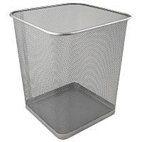 """Корзина для бумаг квадратная """"270x300"""" металлическая сеточка, серебристая"""