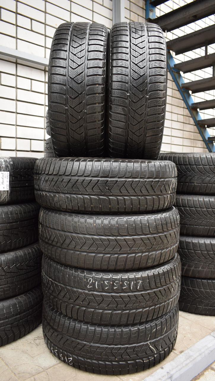 Шины б/у 215/55 R17 Pirelli SottoZero 3, ЗИМА, комплект и пара