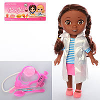 Кукла 9320-5 Доктор Плюшева, доктор, стетоскоп, инструменты