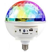 Светодиодная диско лампа Musik Ball E27-997 BT, светомузыка