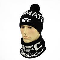 Чоловіча шапка і снуд UFC