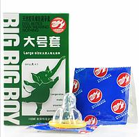 🍓Презервативы BIG BIG BOY (10 штук) | Презерватив, Секс, Контрацепция, презервативы, фото 1