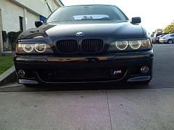 Реснички (накладки на фары) BMW E39 abs-пластик