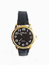 Часы кварцевые Yiweisi женские черные на черном ремешке