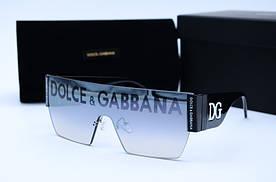 Женские солнцезащитные очки Маска 60116 серое зеркало
