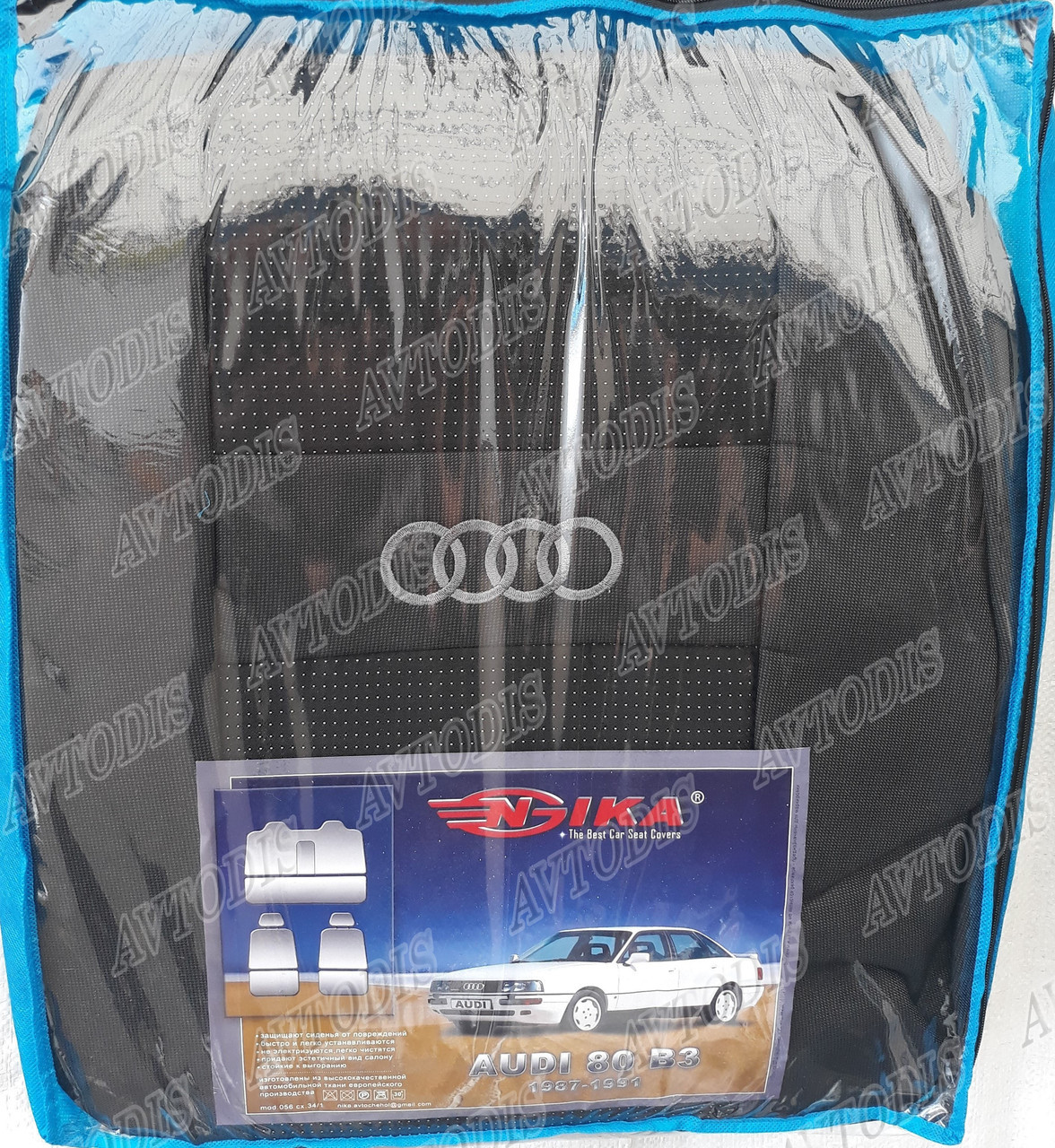 Автомобільні чохли Audi 80 B3 1986-1991 Nika