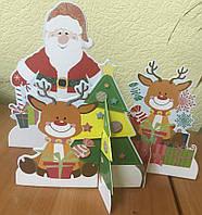 Фигуры декоративные, картон с глитером, в наборе 3шт., в пак.30*17см (AC001-006)