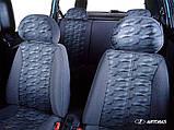 Авто чехлы Lada 2111-2112 1998- (красный) Nika, фото 2