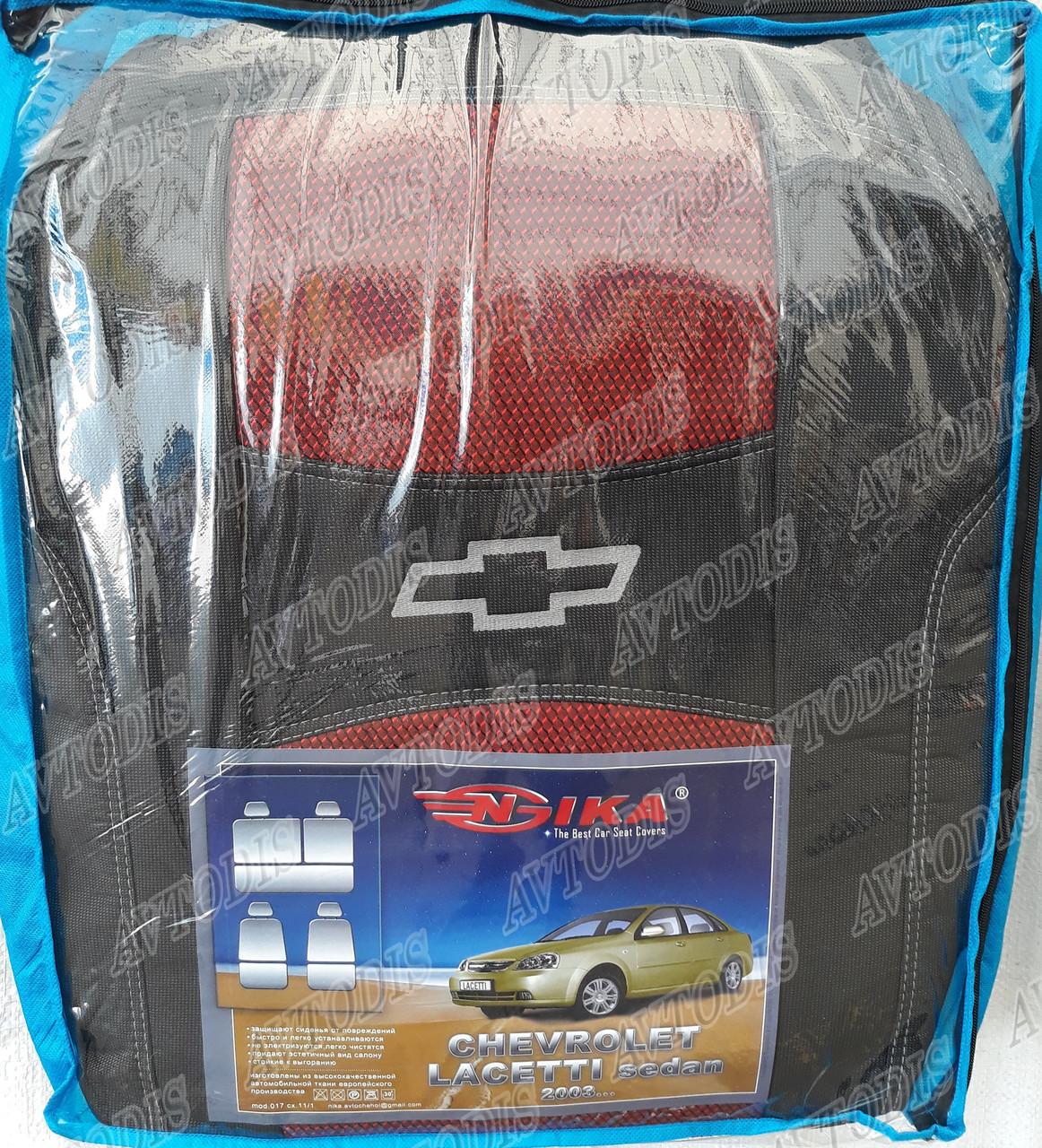 Автомобильные чехлы Chevrolet Lacetti 2003- (sedan) (красные) Nika