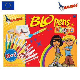 Воздушные фломастеры-аэрографы волшебные Malinos Magic, 11 шт