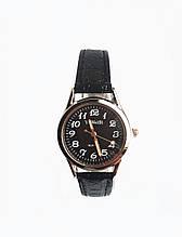 Часы кварцевые Yiweisi Silver женские черные на черном ремешке