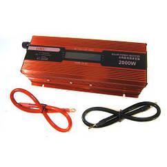 Преобразователь авто инвертор 12V-220V 2000W с LCD дисплеем 005071, КОД: 949703