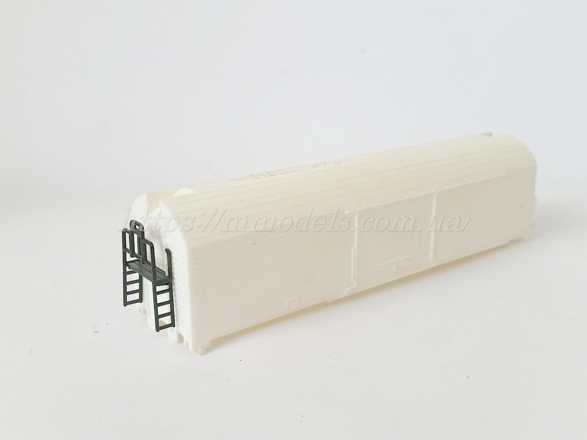 Запасні частини для вагонів - корпус від критого 2х осного рефрежиратора Piko,масштабу 1/87, H0