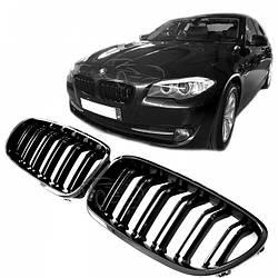 Сітка (ніздрі) BMW F10/F11 М5 LOOK чорна глянсова