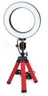 Набор для блогера 2 в 1: штатив , кольцевая LED лампа 16 см (светодиодное селфи кольцо)