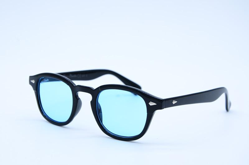 Женские солнцезащитные овальные очки 2548 голубые