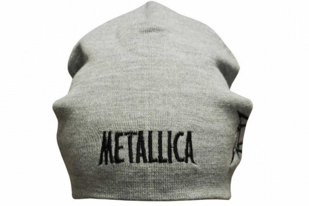 Шапка с вышивкой Metallica серая