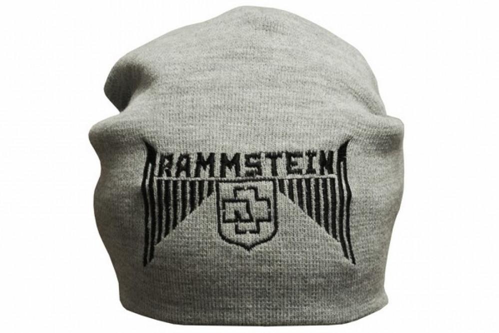 Шапка с вышивкой Rammstein серая