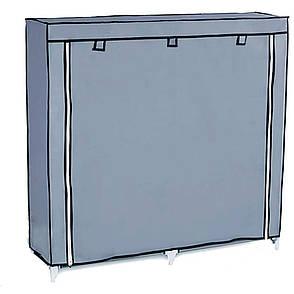 Тканевой шкаф на две секции 2712А + ПОДАРОК: Настенный Фонарик с регулятором BL-8772A, фото 2