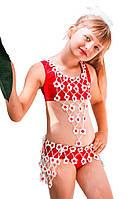 """Костюм детский для pole dance Borodina Antonina 116-142 см  """"Цветочек"""" (0689)"""